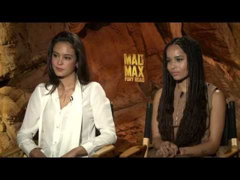 Mad Max: Fury Road: Zoe Kravitz & Courtney Eaton Official Movie Interview - YouTube