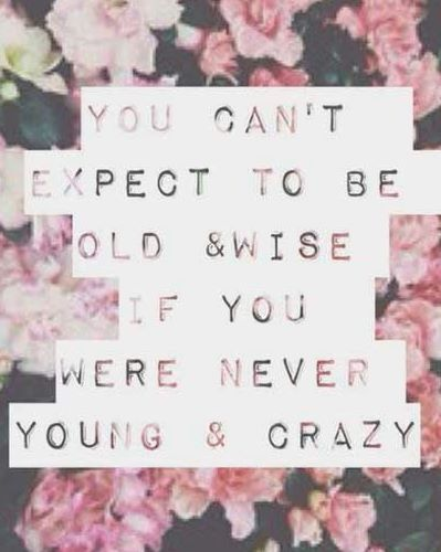 Gotta Be Wild And Crazy Girl Code Life Quotes Young Quotes