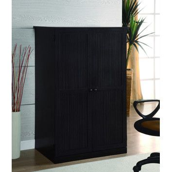 computer armoire desk home office wood armoire desk brown