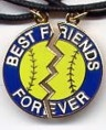 For my daughter's BFF's - great softball necklace
