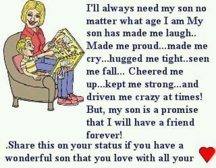 Funny I Love You Son Quotes : ... love for her son Quotes Pinterest Mothers, For her and Love