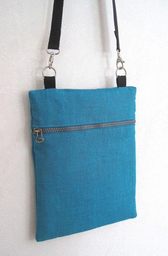 Pellavakankainen laukku