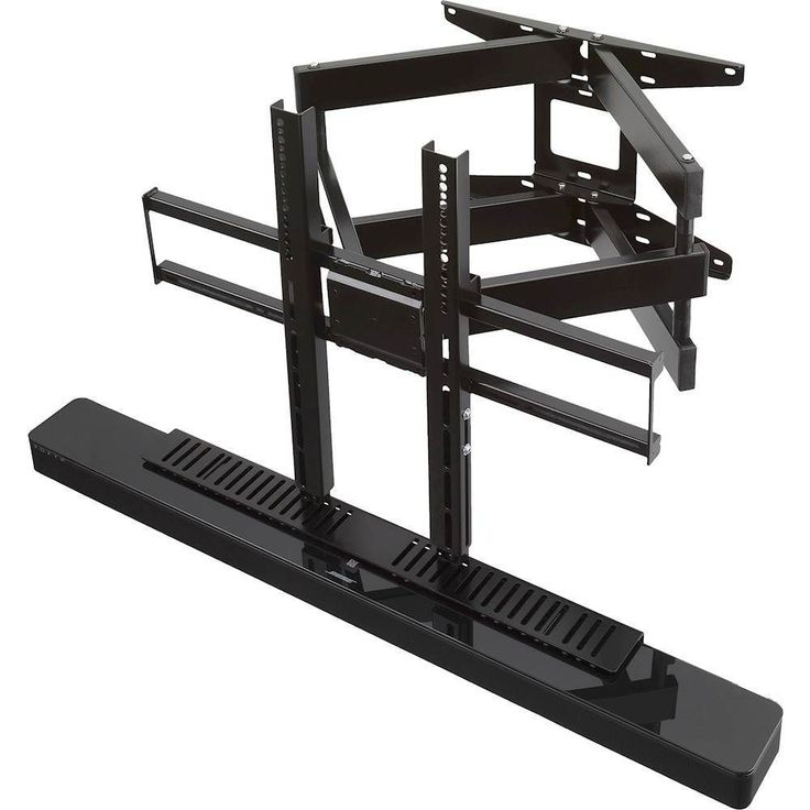 """SoundXtra - Cantilever TV Wall Mount for Most 40"""" - 65"""" TVs and Bose SoundTouch 300 - Extends 26.8"""" - Black"""