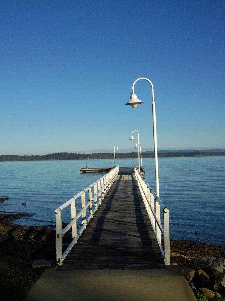 Murray's Beach Jetty, accessed by a casual walk along the waterfront pathways from Wallarah Lodge