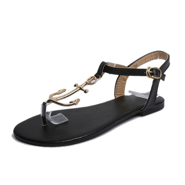 Special price Summer Women Anchor Sandals Fashion Large 42 Size Beach Flats Sandals Woman Flip Flops Shoes Non-slip Sandalias Mujer just only $19.21 with free shipping worldwide  #womenshoes Plese click on picture to see our special price for you