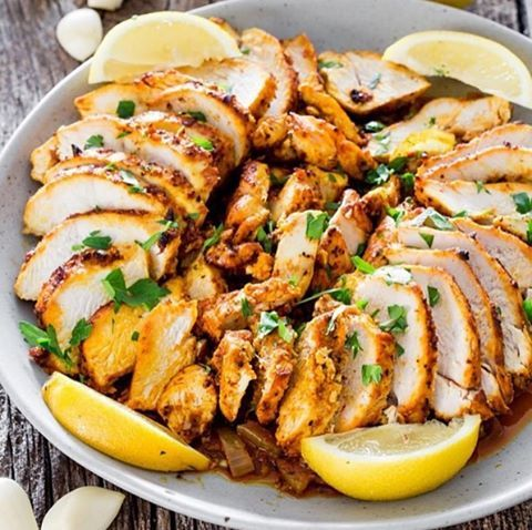 Shawarma 3 chicken breasts, boneless and skinless 2 tsp smoked paprika ...