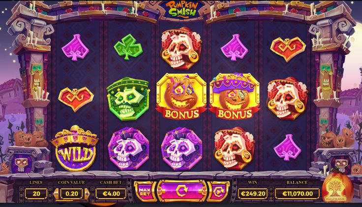 Play free slots like the Pumpkin Smash slot instantly at http://www.CasinoGames.com. The Casino Games site offers free casino games, casino game reviews and free casino bonuses for 100's of online casino games. Find the newest free slots at Casinogames.com.