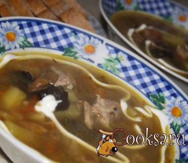 Рецепт грибной суп (с сушенными лесными грибами)
