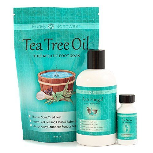 Purely Northwest Three Part Toenail Fungus System with Tea Tree Foot Soak, Antifungal Foot Wash & ReNew Nail Treatment. Purely Northwest http://www.amazon.com/dp/B00PWYG4X6/ref=cm_sw_r_pi_dp_HAMQvb1G8407S