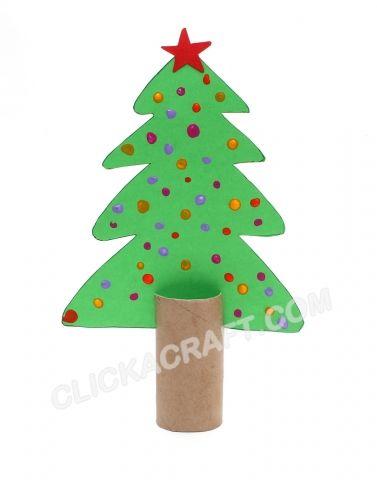 Cardboard Toilet Paper Roll Christmas Tree (2)