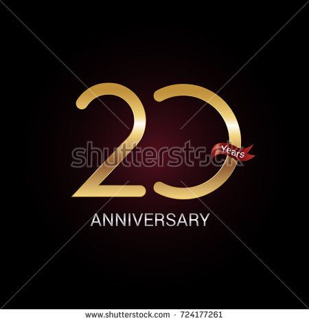 20 years golden anniversary celebration logo