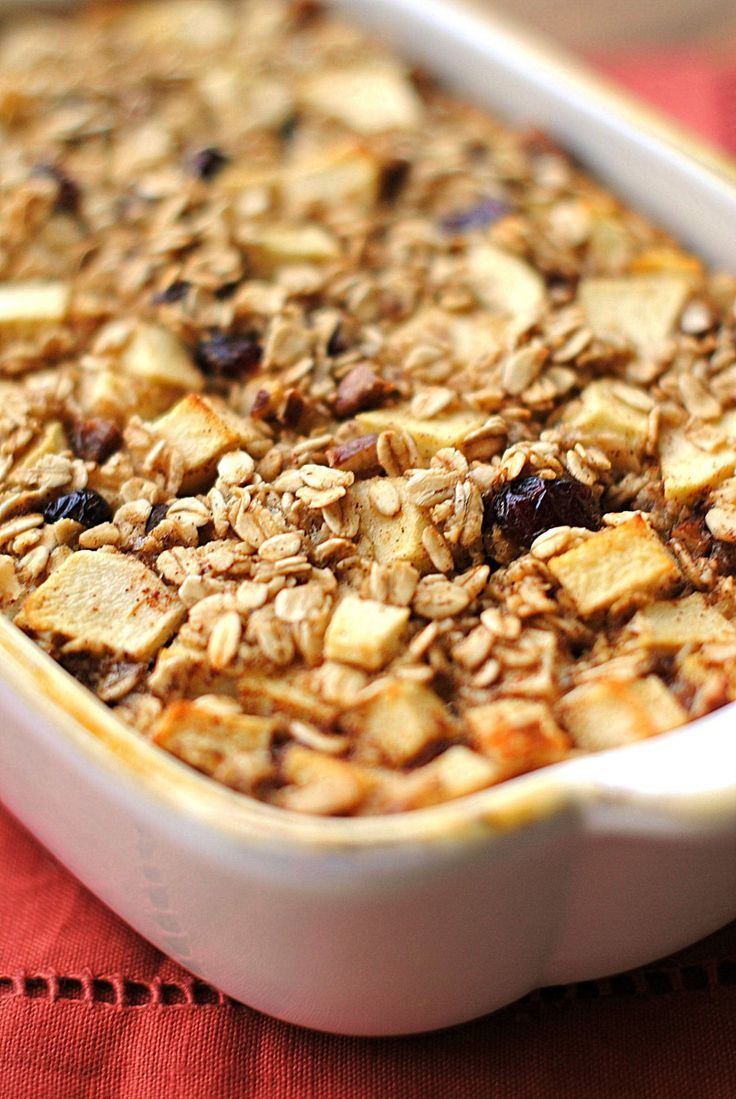 Apple Cinnamon Baked Oatmeal | Recipe | Apple cinnamon, Oatmeal and ...