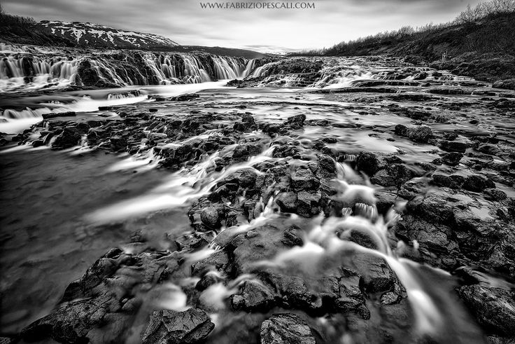 Into the waterfall - Bruarfoss waterfall, Iceland, 04th June 2015