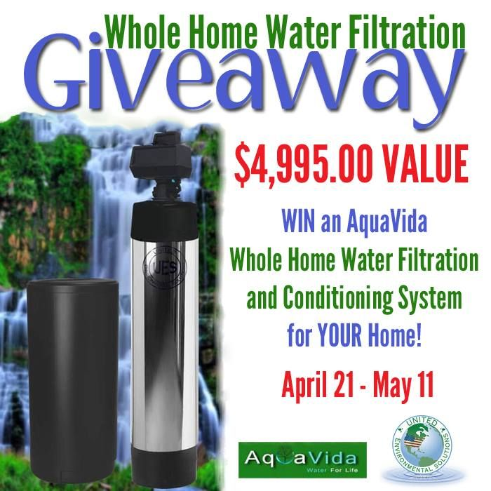 WIN an AquaVida Whole Home Water Filtration System (a $4,995 value)! // deliciousobsessions.com