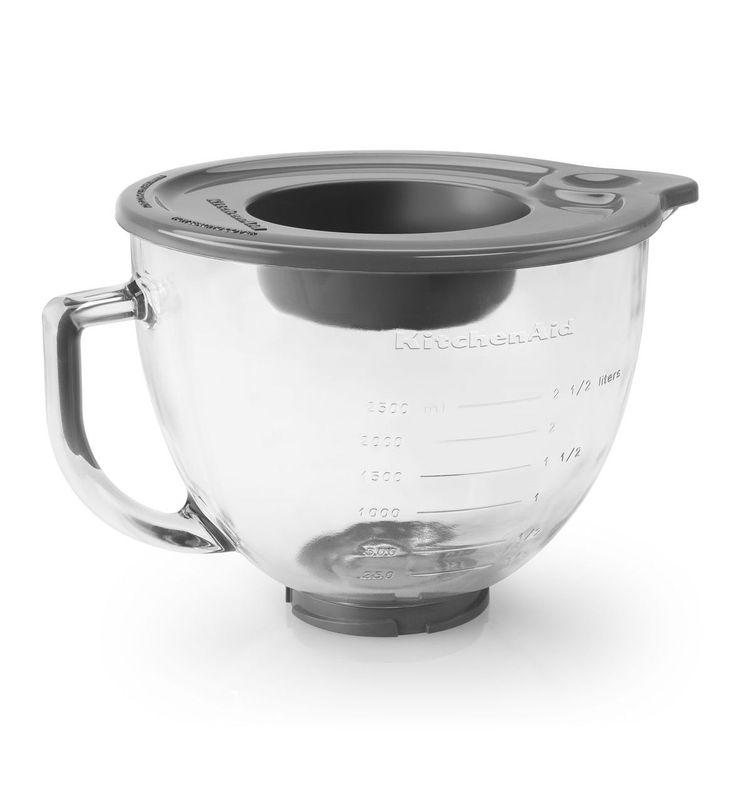 qvc kitchenaid mixer with glass bowl