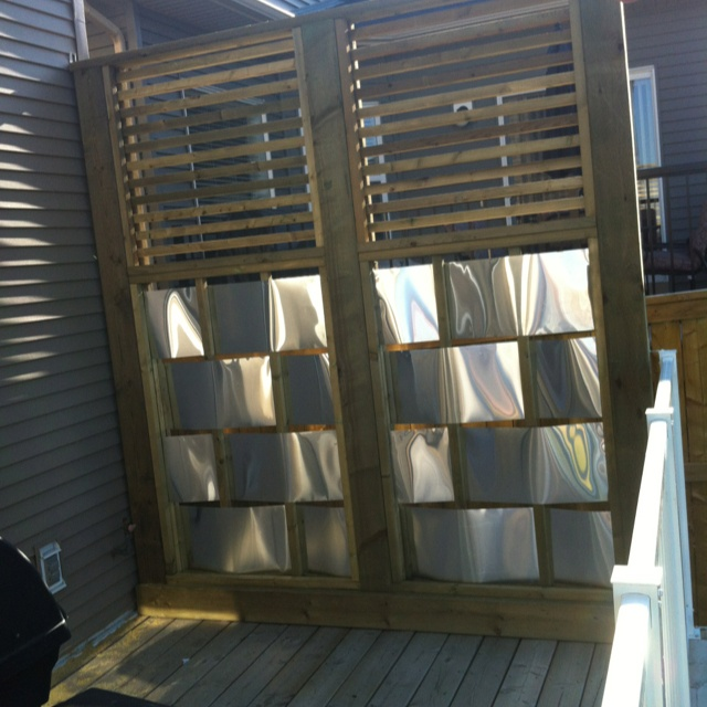 17 best images about privacy wall for deck on pinterest for Metal privacy screens for decks