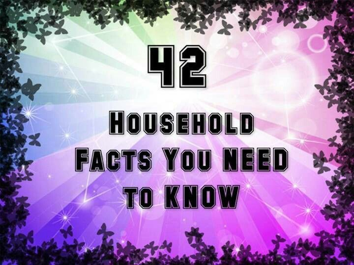 42 Interesting Household Facts that are good to know  Follow me for more interesting stuff   .