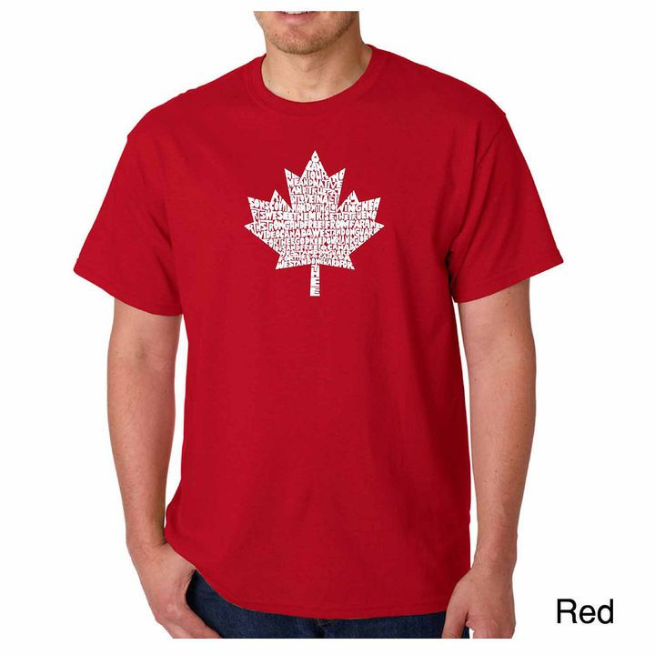 LOS ANGELES POP ART Los Angeles Pop Art Canadian National Anthem ShortSleeve Word Art T-Shirt