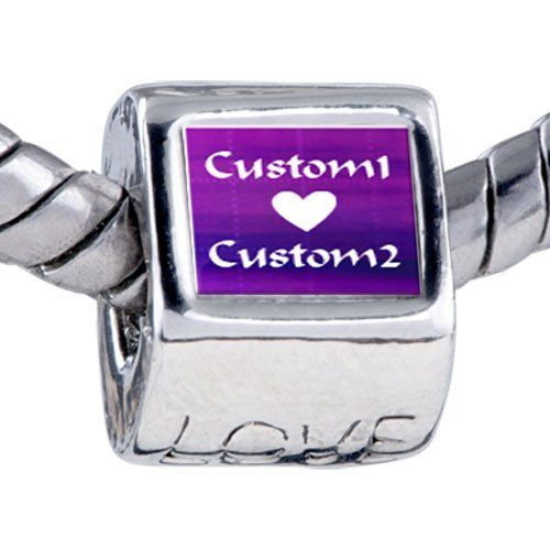 Pugster Bead Purple Matrix Custom European Charm Bead Fits Pandora Bracelet Pugster. $15.99. Weight (gram): 4.20. Metal: base metal. Size (mm): 7.60*9.10*10.10. Bead Size (mm): 7.60*9.10*10.10. Note: Snake chain is not included