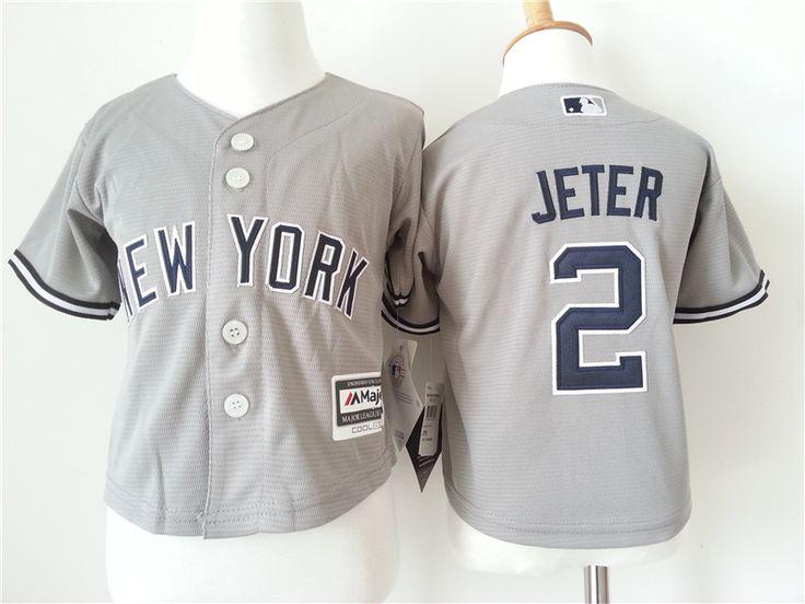 Infant MLB New York Yankees #2 Derek Jeter Jerseys
