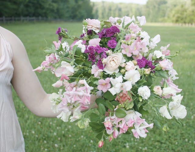 Fairest Flowers Farm. Sweet Pea Bouquet