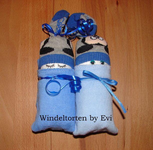 Windelbabys 'Lieblinge', Mitbringsel zur Geburt von Windeltorten By Evi auf DaWanda.com