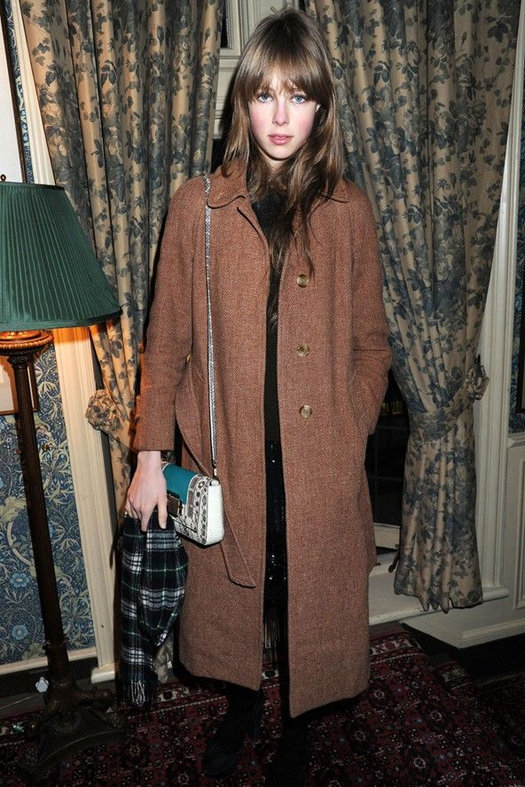 Brown overcoat | Mannish | Edie Campbell
