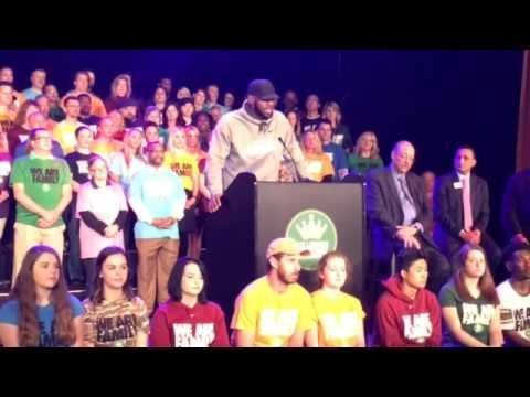 LeBron James on Tuesday announced his Family Foundation will partner with Akron Public Schools to create a new Akron public school, the I Promise School.