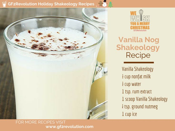 12 best images about holiday shakeology recipes on pinterest gingerbread man shake and - Traditional eggnog recipe holidays ...