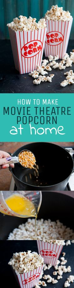 You won't have to miss out on delicious movie theater popcorn any more! This homemade popcorn recipe will be a family favorite.