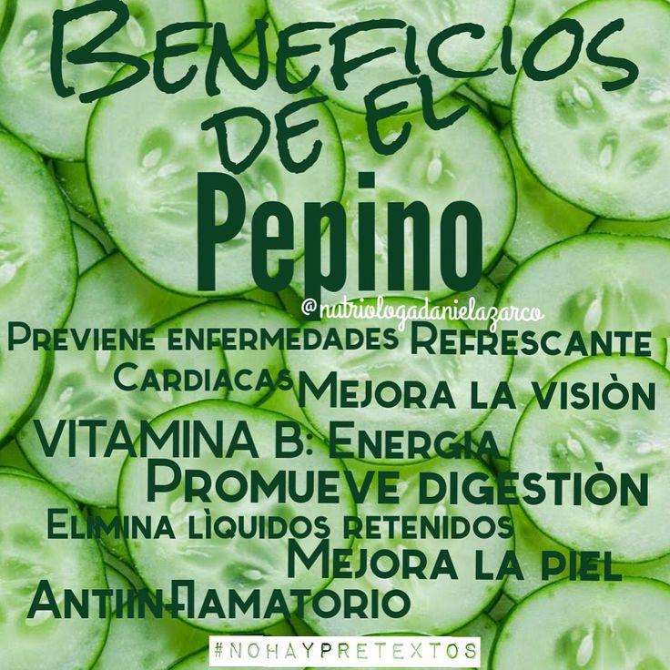 Beneficios del pepino #Beneficios #pepino #Antiinflamatorio #piel #hidratante #verdura #refrescante #dieta #verde