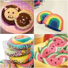 Image result for sugar biscuits coloured dough