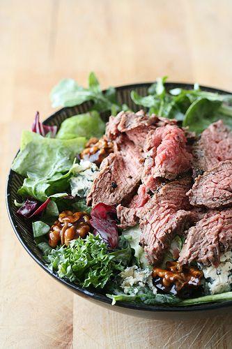 Kitchen Play - Black-and-Blue Flank Steak Salad | Crumb: A Food BlogCrumb: A Food Blog