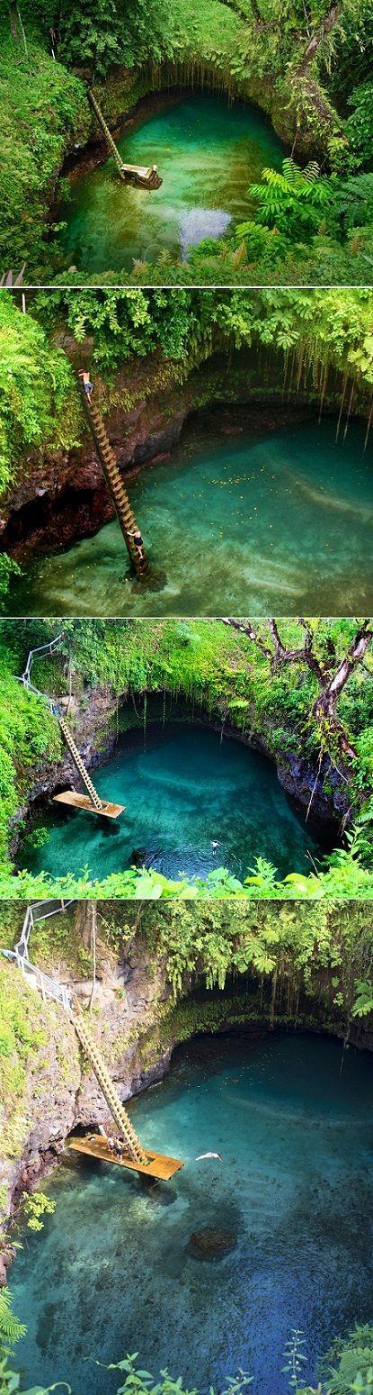 natural pool in Samoa