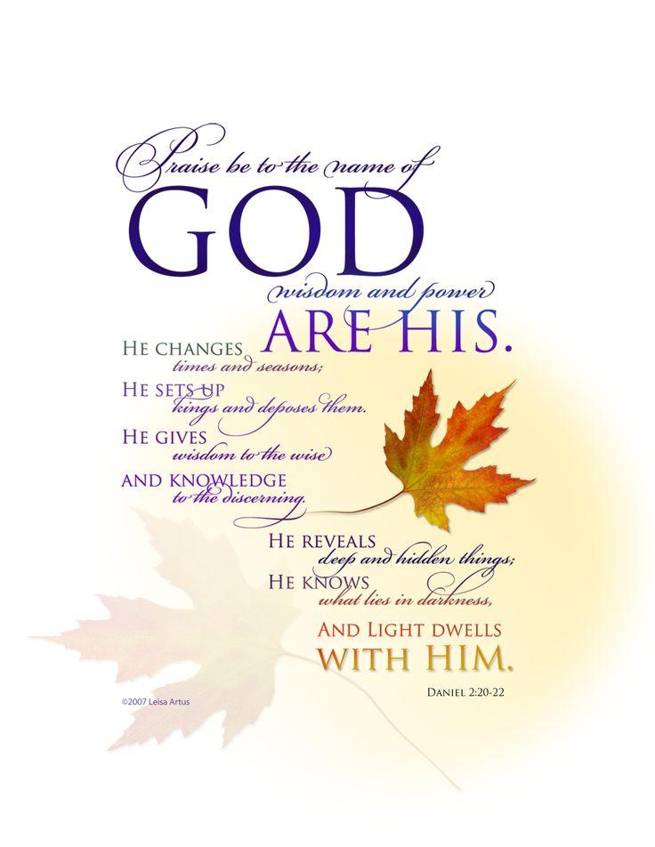 Daniel 2:20 #Bible verses