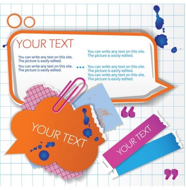 Ripped Paper Text Cloud Message UI Elements - http://www.welovesolo.com/ripped-paper-text-cloud-message-ui-elements/