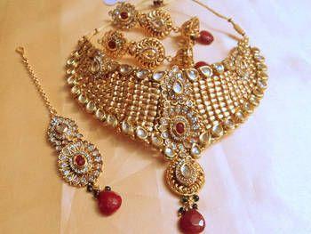 Kundan I Polki Style. Indian wedding jewelry