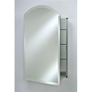 Afina SD2030RARC-BV-R Specialty Single Door Recessed Arch Top Medicine Cabinet with Beveled Right Hinge