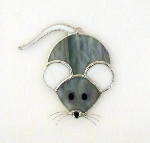 Stained Glass Mouse Suncatcher Mouse by StainedGlassYourWay by mabel