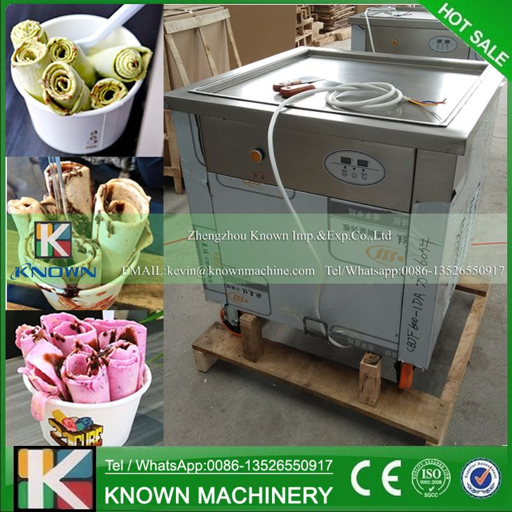 Promotion! The 220V / 110V single square ice pan machine / fried ice cream roll machine  (Free shipping by sea)