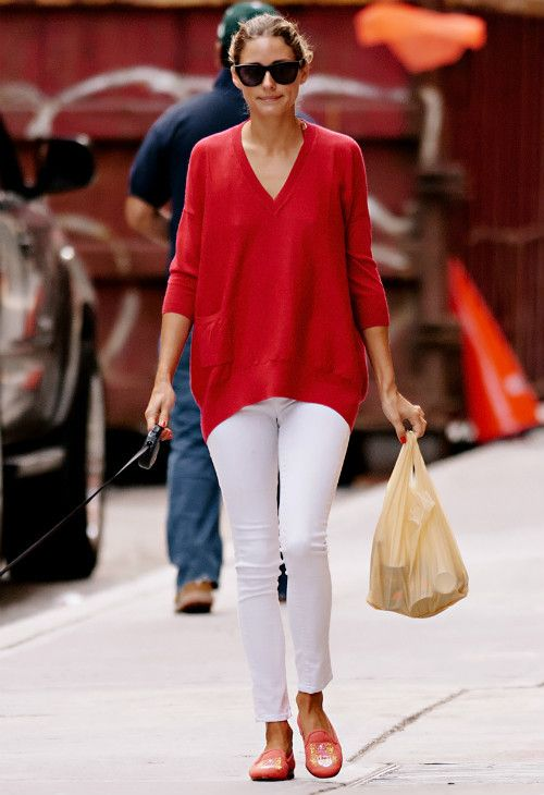 Olivia Palermo | http://getthelookoliviapalermo.blogspot.com.es/ 赤 style styling coordinate ニット トップス コーデ コーディネート red knit tops outfit