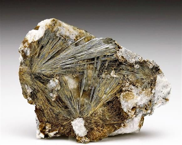A seldom seen specimen of Stibnite from the Gyöngyösoroszi area in Hungary. Crystal Classics Minerals