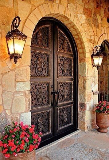 grand entrance for a Spanish colonial