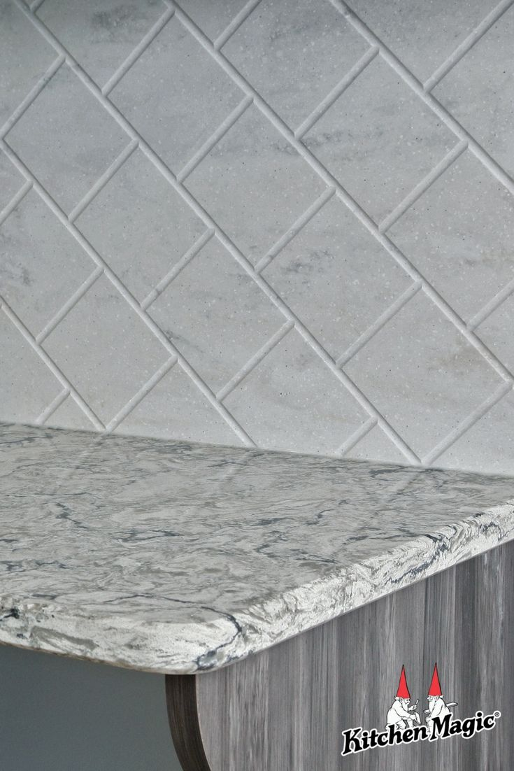 - Today's Top Kitchen Tip Is... #3. Routed Corian Backsplash! Tile