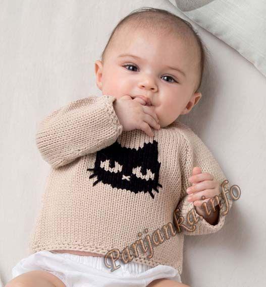 Распашонка или пуловер (д) 12*122 Phildar №4934: 1) Русский - http://parijanka.info/2010-01-25-12-47-41/5861-raspashonka-ili-pulover-d-12122-phildar-4934 2) https://lamagliadimarica.com/2016/08/03/un-gattino-per-amico/