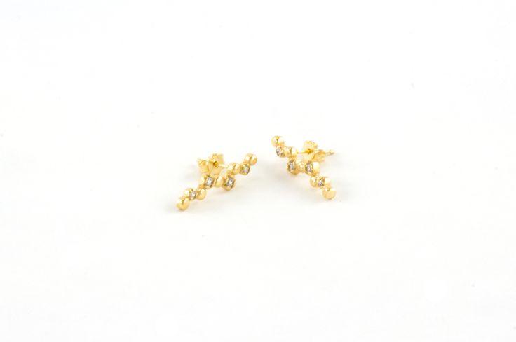 Shop on-line in www.eosbijoux.com orecchini in argento, silver earring, finitura oro rosè, zircon, fashion jewelry, irecchini pendenti, elegant jewel, dainty earrings
