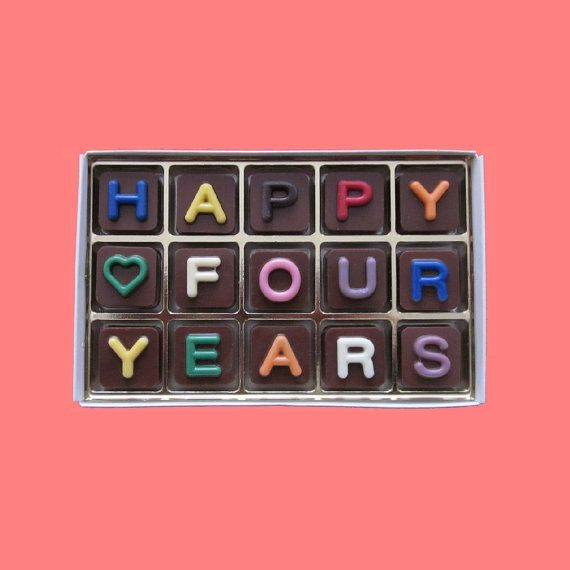 4th Anniversary Gifts for Men Him Four Years by WhatCandySays