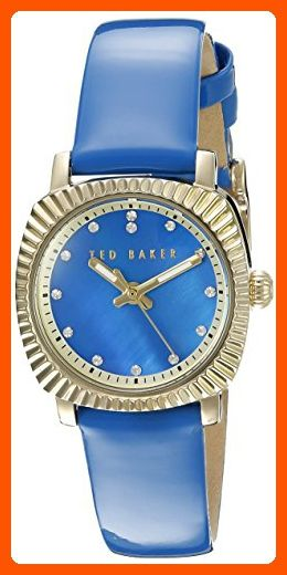 Ted Baker Women's 10025305 Vintage Glam Analog Display Japanese Quartz Blue Watch - All about women (*Amazon Partner-Link)