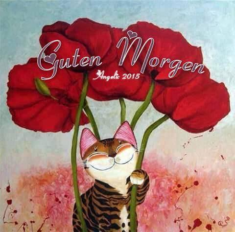 angélique ♡༺ on   Guten Morgen   Cat art, Art und Cats