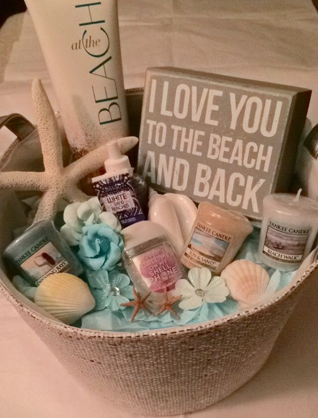 Beach themed gift basket